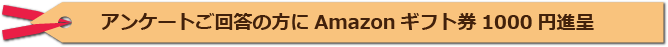 アンケートご回答の方にAmazonギフト券1000円進呈